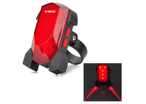 Артикул DE 0006 — Фонарь OEM INBIKE Rechargeable Bicycle Safety Tail Warning 5-LED Red Laser 3-Mode Light - Red + Blac