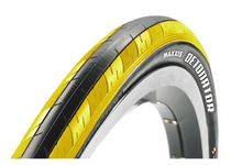 Артикул S02174 — Покрышка Maxxis Detonator 700x23C TPI 60 кевлар 57a/62a Dual Black/Yellow (TB86352200)