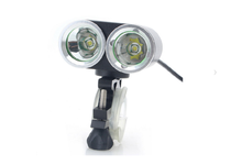 Артикул DE 0008 — Фара светодиодная OEM ZHISHUNJIA XML-T6 2-LED 900lm 4-Mode Cool White Bike Lamp - Black  (без аккуму
