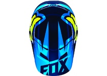 Артикул Н35639 — Козырек к шлему Fox V1 Race Helmet Visor Blue/Yellow XL/2XL (15855-026-XL/2XL)