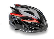 Артикул HL570053 — Каска Rudy Project RUSH BLACK - RED FLUO SHINY  L
