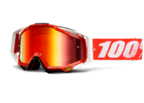 Артикул Н29814 — Очки 100% Racecraft Snowmobile Fire Red / Mirror Red Vented Dual Lens w/Pins (50113-003-02)
