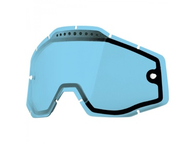 Линза 100% Racecraft/Accuri/Strata Vented Dual Pane Lens Anti-Fog Blue  (51006-002-02)