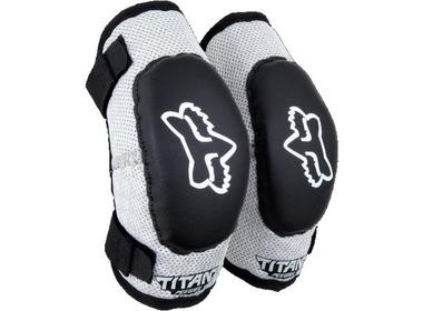 Налокотники детские Fox Titan Elbow Kids Guard Black/Silver (08038-464-OS)