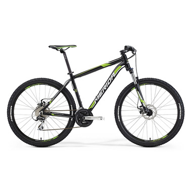 "Артикул D0010294 — Велосипед Merida Big.Seven 20-MD Size: 17"" 15'  Matt Black (white/green) (60754)"