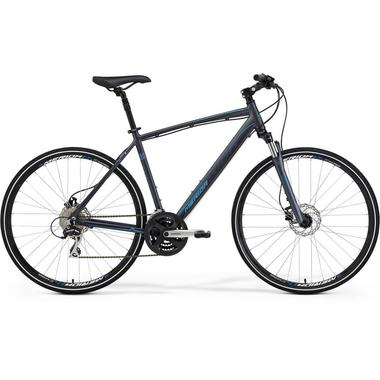 Артикул 6110558615 — Велосипед Merida Crossway 20-D Size: 46cm 15' Matt Anthracite (dark grey/sky blue) (58615)