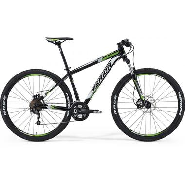"Артикул D0006400 — Велосипед Merida Big Nine 300 Size: 17"" 14 Met.Black (white/green) (05690)"