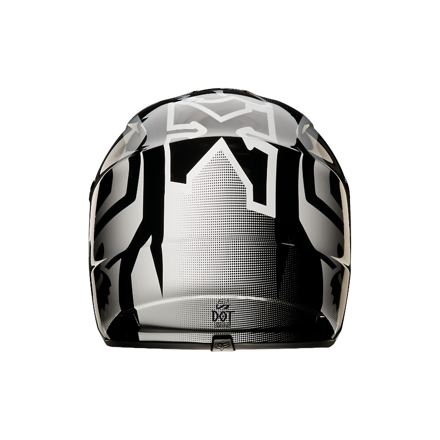 Мотошлем fox v1 race helmet black xl (14401-001-xl)